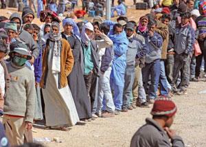 Rifugiati libici sul confine tunisino [© Ansa]